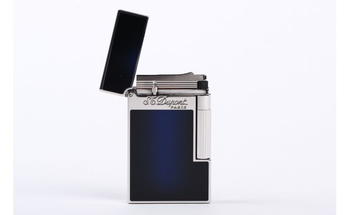 S.T.Dupont L2 Le grand S.T. Dupont Lighter lacquer Blue Silver finishes 23013